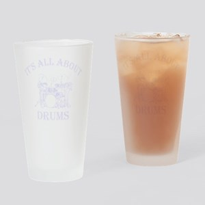 DRUMS-BLACK Drinking Glass