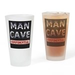Man Cave Confidential Drinking Glass