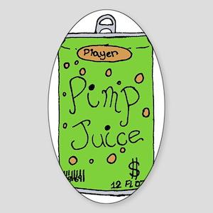 pimpjuice-black Sticker (Oval)