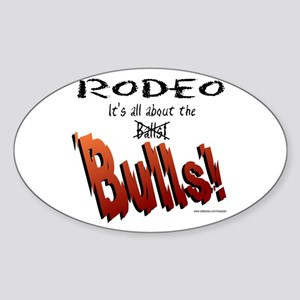 It's all about the Balls(BULLS) Oval Sticker