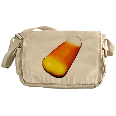 candycorn-black Messenger Bag