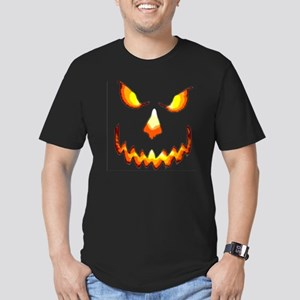 pumpkinface-black Men's Fitted T-Shirt (dark)