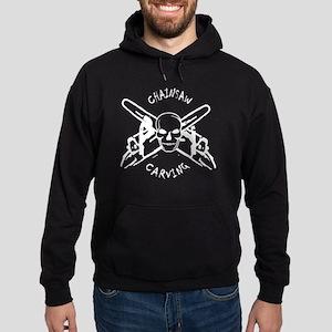 chainsaw_CARVING_skull-black Hoodie (dark)