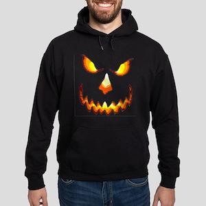 pumpkinface-black Hoodie (dark)