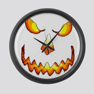 pumpkinface-black Large Wall Clock