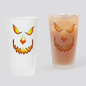 pumpkinface-black Drinking Glass