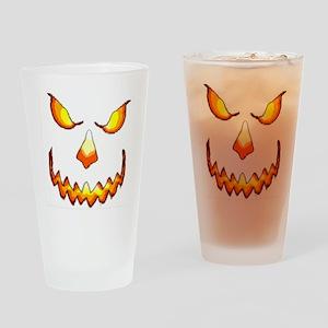 pumpkinface-black Drinking Glass