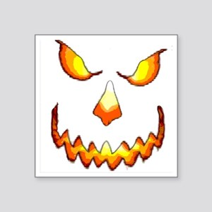 "pumpkinface-black Square Sticker 3"" x 3"""