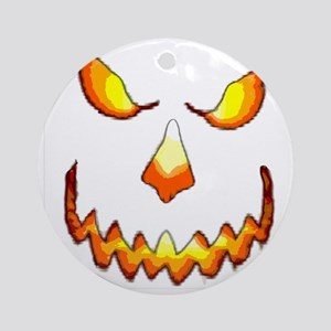 pumpkinface-black Round Ornament