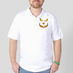 pumpkinface-black Golf Shirt