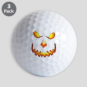 pumpkinface-black Golf Balls