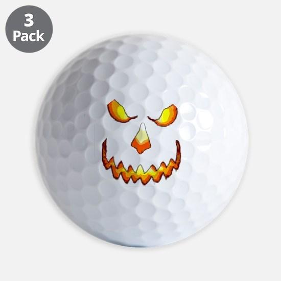 pumpkinface-black Golf Ball