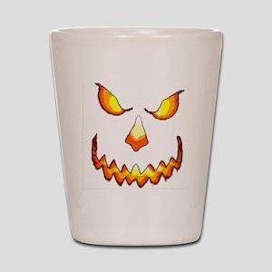 pumpkinface-black Shot Glass