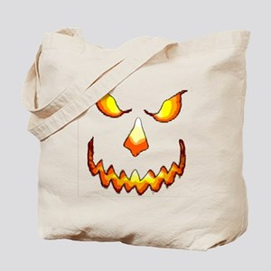 pumpkinface-black Tote Bag