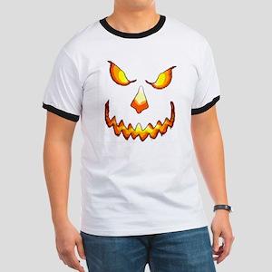 pumpkinface-black Ringer T