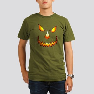 pumpkinface-black Organic Men's T-Shirt (dark)