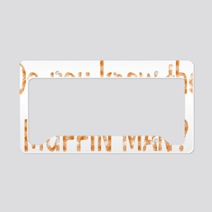 muffin-black License Plate Holder