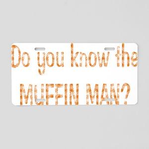 muffin-black Aluminum License Plate