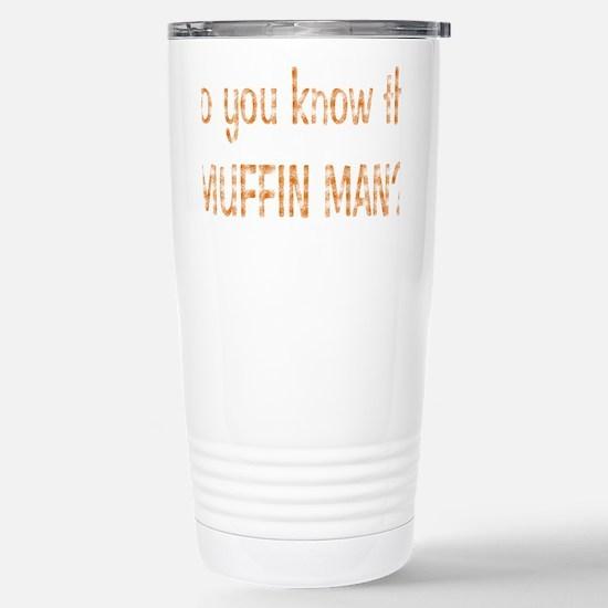 muffin-black Stainless Steel Travel Mug