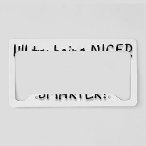 nicer License Plate Holder