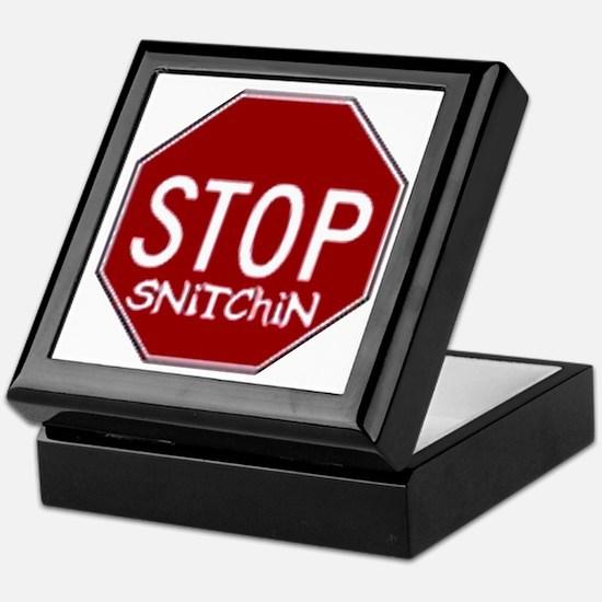 Stop Snitchin Keepsake Box