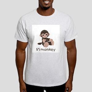 li'l monkey (brown) Ash Grey T-Shirt