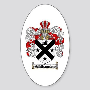 Williamson Coat of Arms Crest Oval Sticker