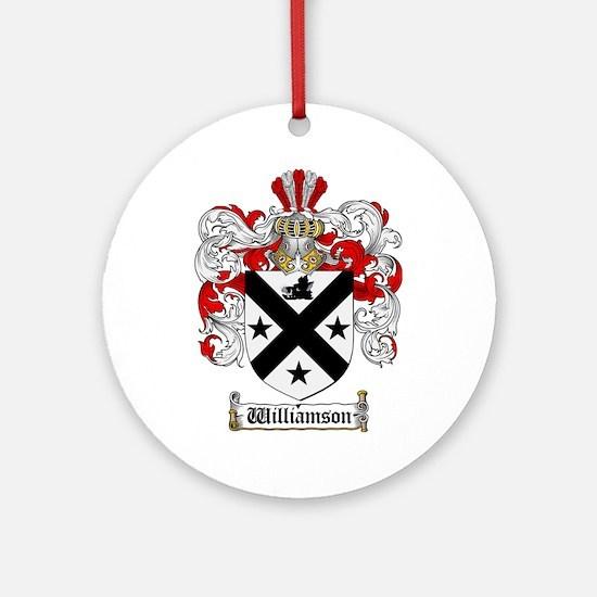 Williamson Coat of Arms Crest Ornament (Round)