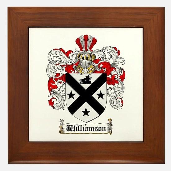Williamson Coat of Arms Crest Framed Tile