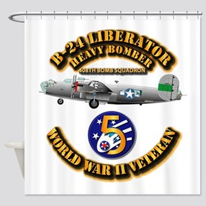 AAC - 22nd BG - 408th BS - 5th AF Shower Curtain