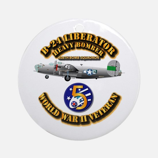 AAC - 22nd BG - 408th BS - 5th AF Ornament (Round)