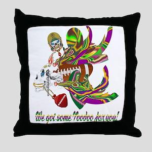 Football Voodoo 9 Throw Pillow