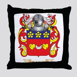Le-Conte Coat of Arms - Family Crest Throw Pillow