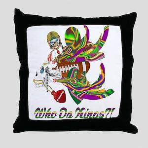 Football Voodoo 10 Throw Pillow
