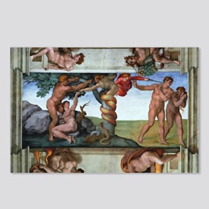 fall of man Postcards (Package of 8)