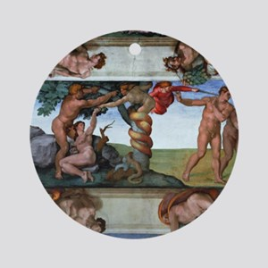 fall of man Round Ornament