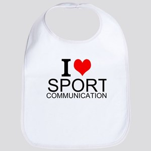 I Love Sports Communications Baby Bib