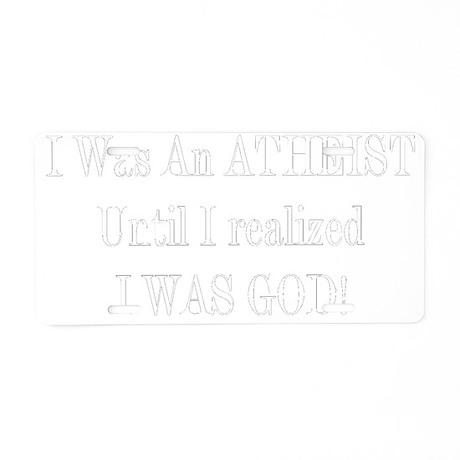 atgod-black Aluminum License Plate