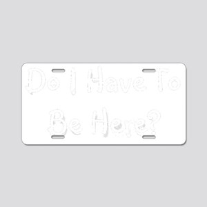 behere-black Aluminum License Plate