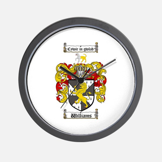 Williams Coat of Arms Family Crest Wall Clock