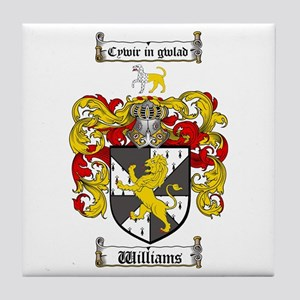 Williams Coat of Arms Family Crest Tile Coaster