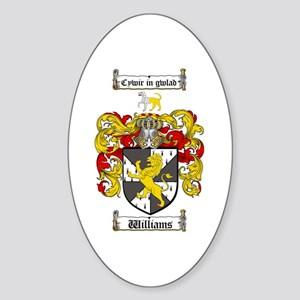 Williams Coat of Arms Family Crest Oval Sticker