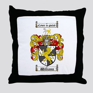 Williams Coat of Arms Family Crest Throw Pillow