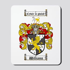 Williams Coat of Arms Family Crest Mousepad