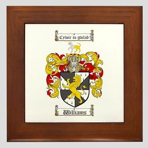 Williams Coat of Arms Family Crest Framed Tile