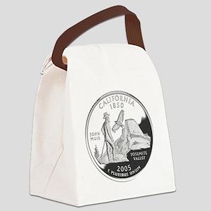 california-black Canvas Lunch Bag