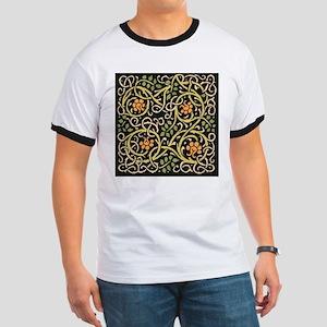 William Morris Black Floral Art Print Desi T-Shirt