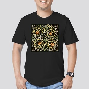 William Morris Black Floral Art Print Desi T-Shirt