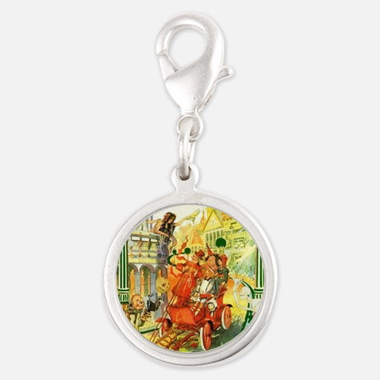 The Emerald City of Oz Silver Round Charm