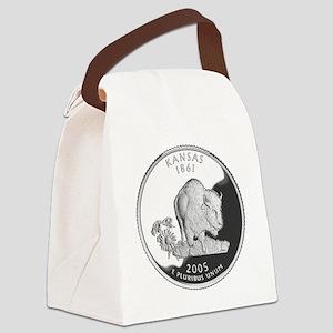 kansas-black Canvas Lunch Bag